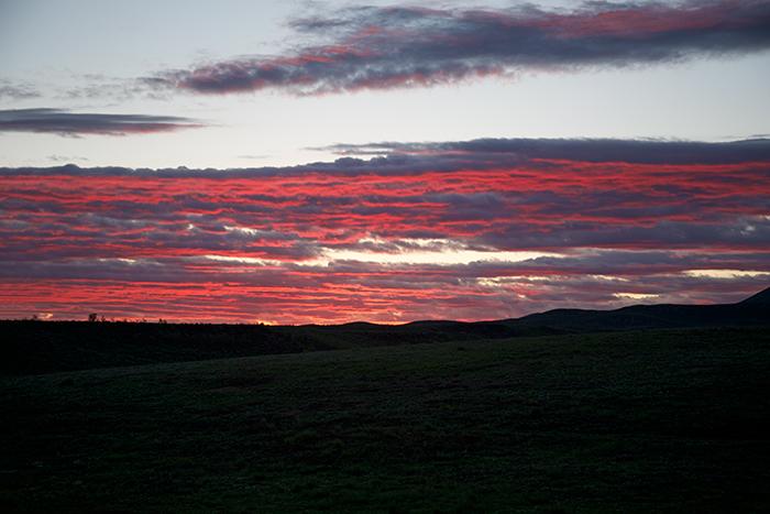 Sunset, West Camas Prairie, Idaho