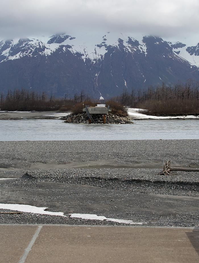 Copper River Highway, Looking Across to Bridge 340