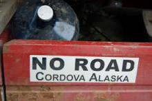 Bumpersticker, Cordova, Alaska, Photographer Uknown