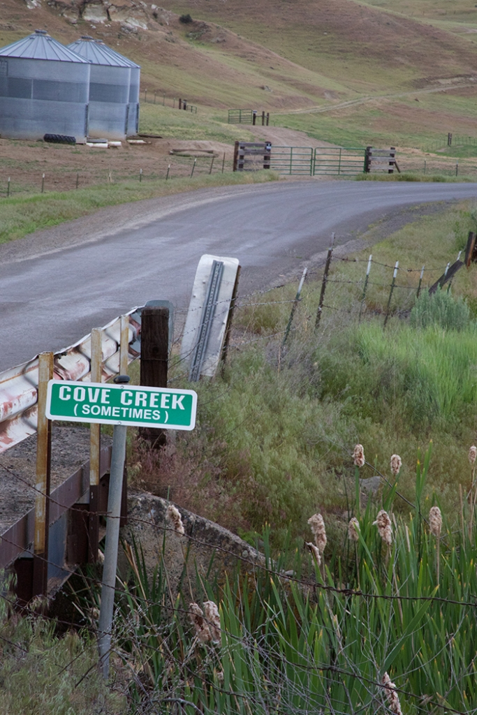 Honesty in Road Signs and Intermittent Streams, Cove Creek Road, Weiser Valley