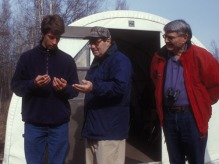 Antonin Scalia at Alaska Bird Observatory's Banding Station, May 2003