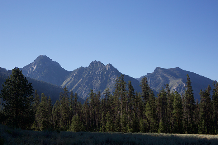 Sawtooth Mountains from the South Fork of the Payette Valley