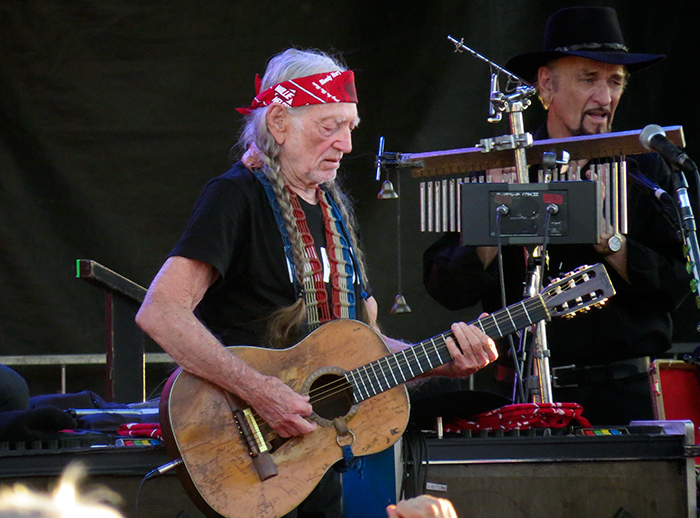 Willie Nelson and Band at Outlaw Field, July 26, 2016.