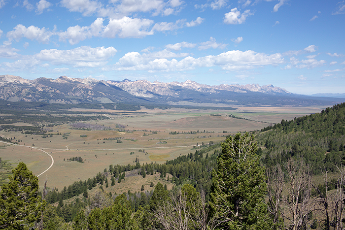 Upper Sawtooth Valley from Galena Pass, headwaters of the Salmon River