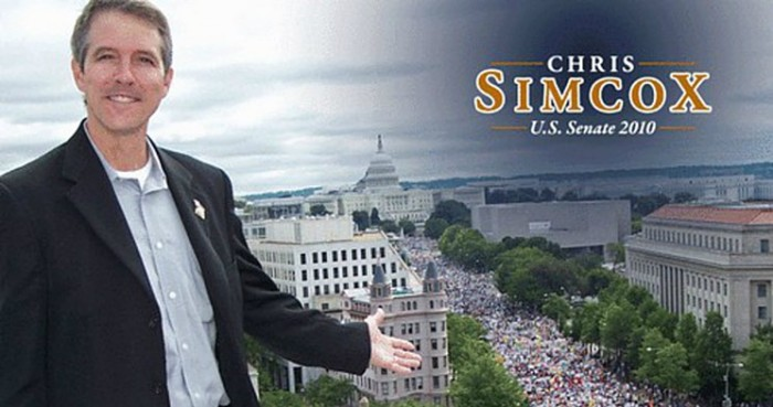 An image from Chris Simcox's brief, dark-horse run for U.S. Senate in the 2010 GOP primary against John McCain.