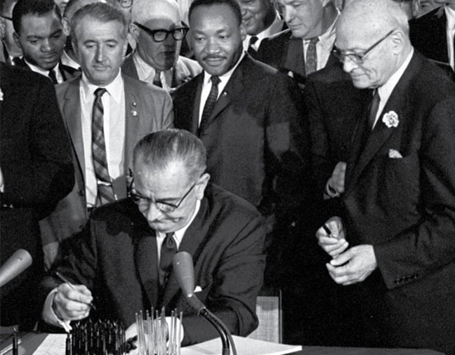 President Lyndon John Signing the Voting Rights Act of 1965 into Law