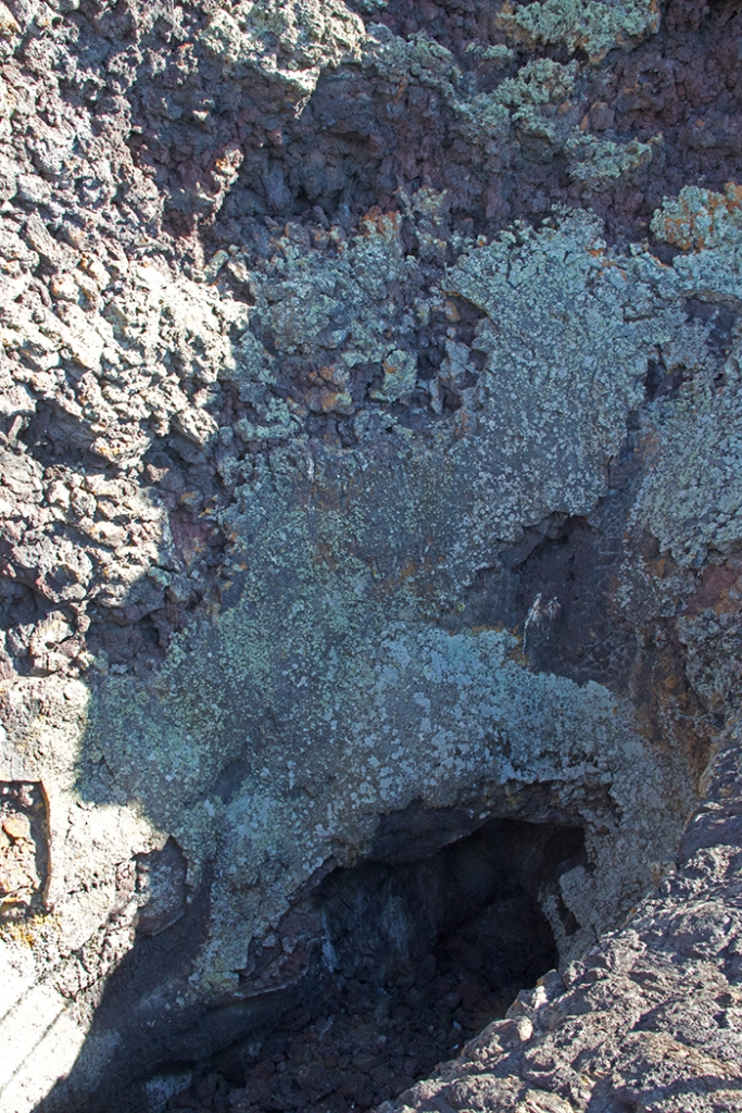 Spatter Cone Throat and Lichen, Craters of the Moon Nat'l Monument