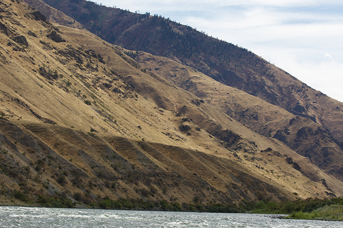 Part of a mile-long gravel bar, 200 feet above the Snake River, left by the Bonneville Flood