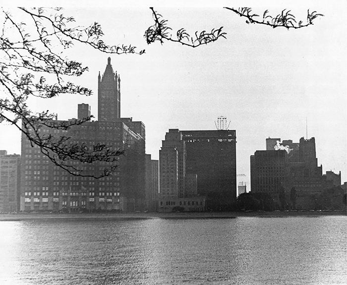 Near North Chicago Skyline from Water Treatment Plant, 1974