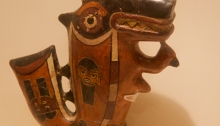 Stylized Jaguar Drinking Cup, Moche Culture, Larco Museum, Lima