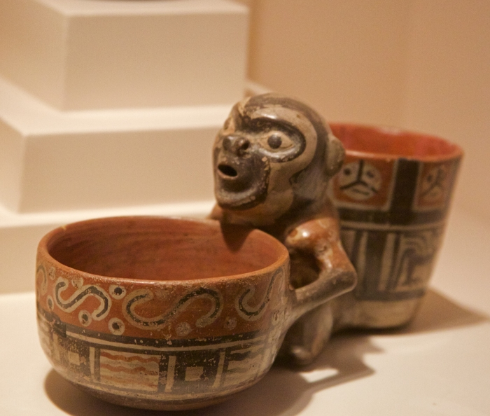 Monkey Cup, Moche Culture, Larco Museum, Lima