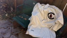 Genuine Wrigley Field bleacher seats and 1906 replica jersey
