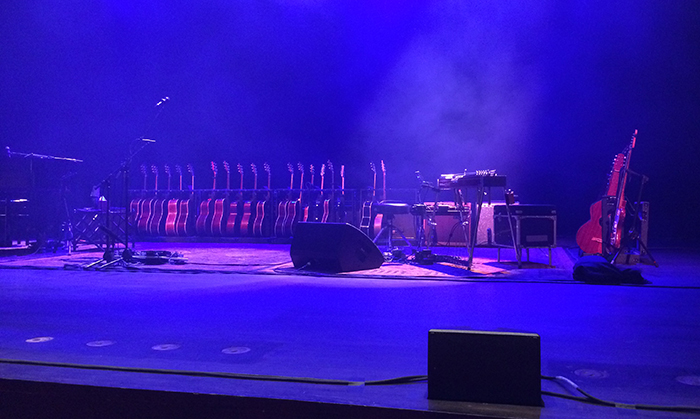 Jackson Browne's Guitars, Vema Morrison Auditorium, Boise. Photo by Mrs. WC.