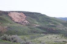 Almaden Mercury Mine spoil, April 2017