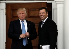 President Trump and Kansas Secretary of State Kris Kobach (Photo: Mike Segar/Reuters)