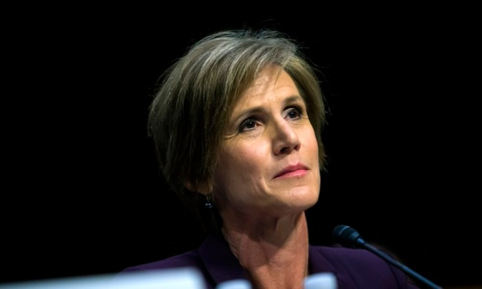 Former Acting Attorney General Sally Yates (Source: Eric Thayer/Getty Images News/Getty Images)