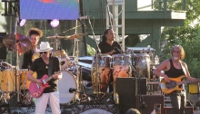 Santana, Front, Carlos Santana and Tommy Anthony; Back Cindy Blackman Santana and Paoli Mejias