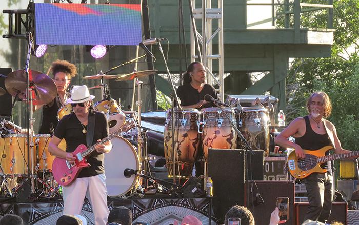 Santana, Front, Carlos Santana and Tommy Anthony; Back Cindy Blackman Santana and Paoli Mejias