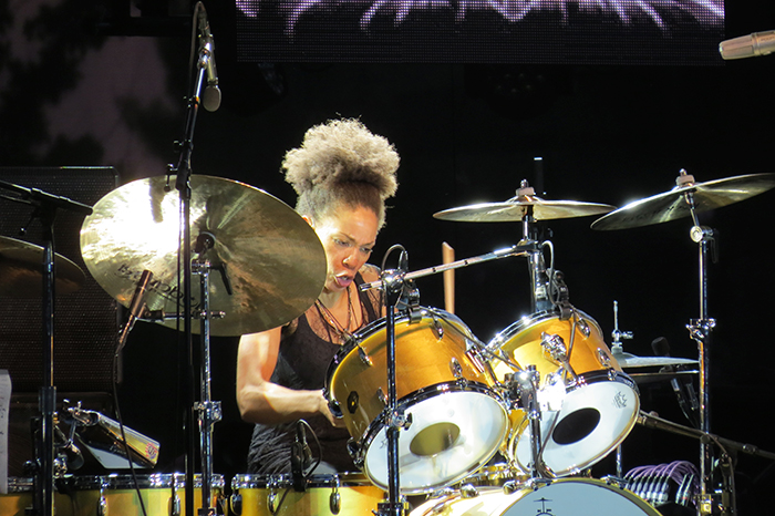 Cindy Blackman working the skins