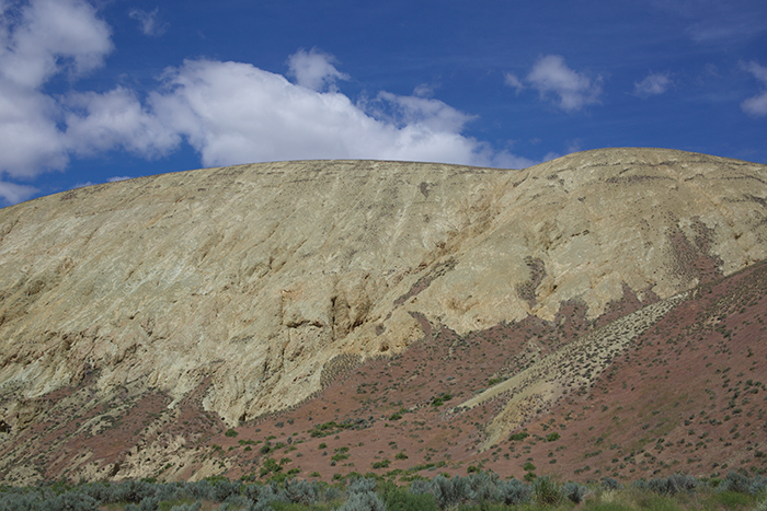 Rhyolite ash outcrop, about 300 meters deep, Leslie Gulch, Owhyee Mountains, Oregon