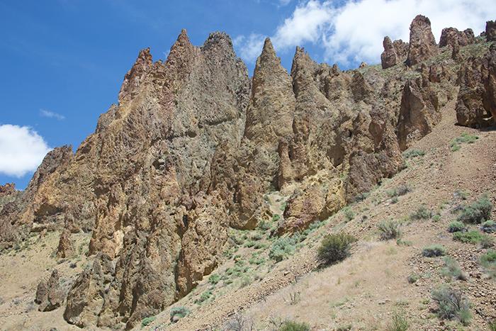 Weld tuff hoodoos, Leslie Gulch, Owhyee Mountains, Oregon
