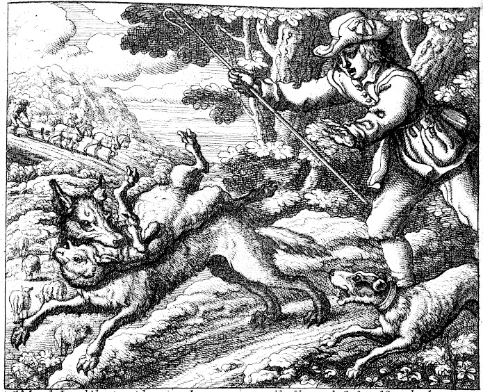 Francis Barlow's illustration of the fable, 1687