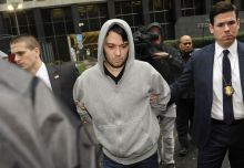 Martin Shkreli, chief executive officer of Turing Pharmaceuticals LLC, exits federal court in New York, U.S., on Thursday, Dec. 17, 2015. Shkreli was arrested on alleged securities fraud related to Retrophin Inc., a biotech firm he founded in 2011. Photographer: Louis Lanzano/Bloomberg via Getty Images