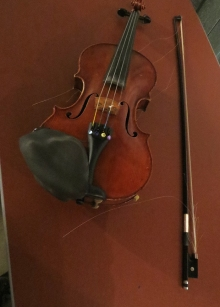 "Elena James' Fiddle, showing a little wear on the bow after ""Orange Blossom Special"""