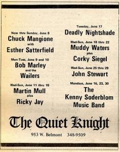 Quiet Knight playbill, June 1975