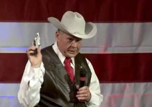 Roy Moore campaigning for the U.S. Senate
