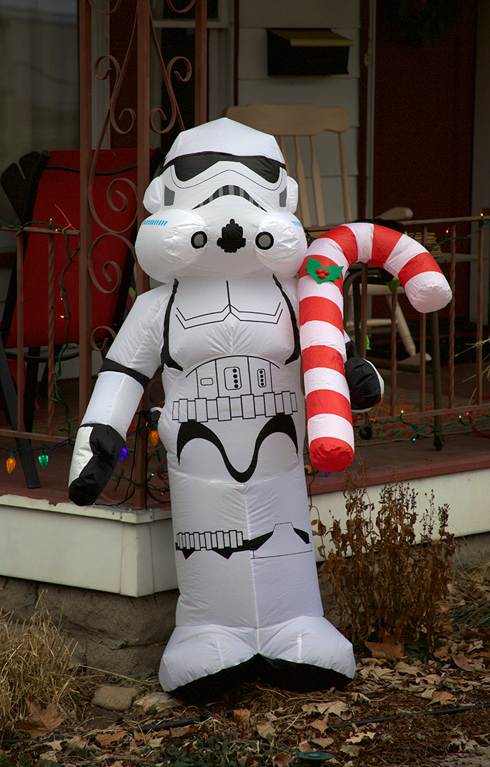 Christmas Star Wars Stormtrooper, North End, Boise, Idaho