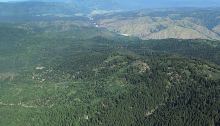 Site of the proposed CuMo Mine, in the headwaters of Grimes Creek, Boise River Drainage