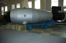 A reproduction of the Tsar Bomba, the biggest nuclear weapon ever detonated, at the Nuclear Weapons Museum at RFNC-VNIIEF in Sarov (via Wikimedia)