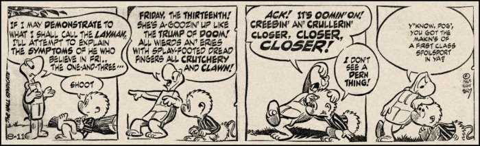 Pogo, August 11, 1965, by Walt Kelly, © United Features Syndicate