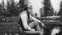 John Muir, America's most famous naturalist and conservationist, at Tuolumne Meadows, 1092