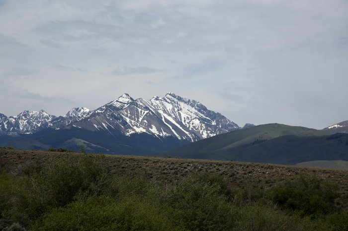 Mt. Borah, the highest point in Idaho, 12,667 feet, part of the Lost River Range