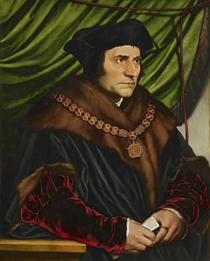 Sir Thomas More, by Hans Holbein the Younger, via Wikicommons