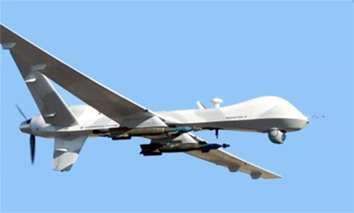 MQ-9 Reaper Drone armed with Predator Missiles (Air Force File photo)