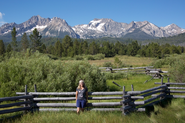 Mrs. WC and the Sawtooth Mountains, Sawtooth NRA, Idaho