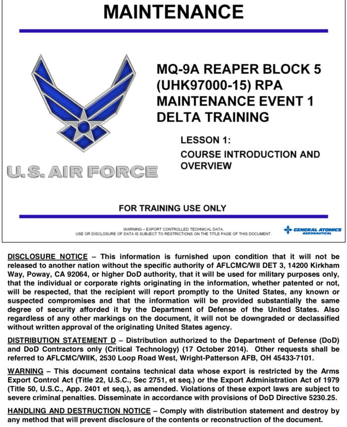 Think a repair manual would be useful to an enemy?