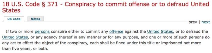 18 U.S.C. §371