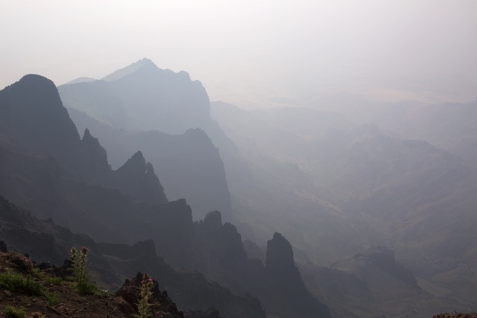 Looking north along the East Rim, Steens Mountain, Oregon, August 1