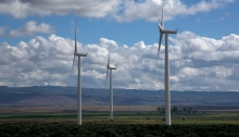Wind Turbines near Bliss, Idaho, Snake River Plain