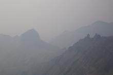 Wild fire smoke, East Rim, Steens Mountain, Oregon