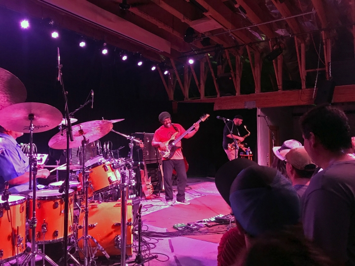The Victor Wooten Trio doing its thing (Mrs. WC photo)
