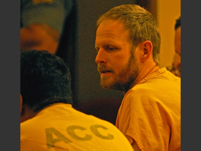 Justin Schneider in court, photographer unknown