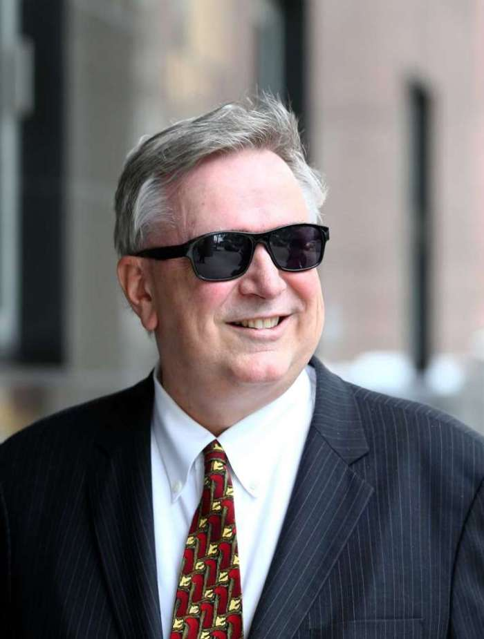 He's not smiling now. Former U.S. Representative Stephen Stockman walks to the U.S. District Courthouse for his counsel determination hearing in front of Magistrate Judge Stephen W. Smith at the U.S. District Courthouse Friday, March 24, 2017, in Houston. ( Godofredo A. Vasquez / Houston Chronicle )