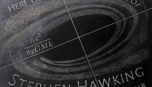Dr. Stephen Hawking's gravestone in Westminster Abbey