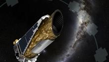 NASA artist's concept of Kepler doing its job