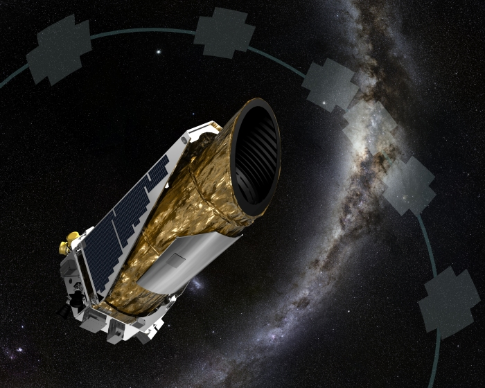 NASA artist's concept of Kepler doing its job
